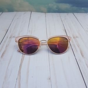 Ted Baker Rose Gold Mirrored Sunglasses
